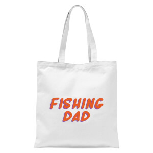 Fishing Dad Tote Bag - White