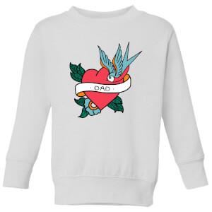 Dad Heart Kids' Sweatshirt - White