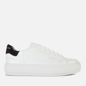 Kurt Geiger London Women's Laney Leather Flatform Trainers - White/Black