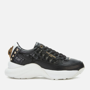 Kurt Geiger London Women's Lunar Eagle Leather Chunky Running Style Trainers - Black