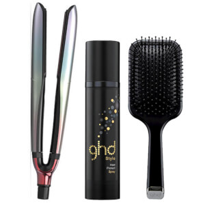 ghd Festival Platinum Set with Heat Protect Spray