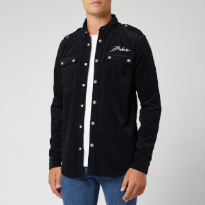 Balmain Men's Signature Cord Shirt - Noir