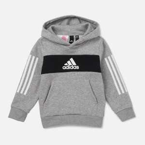 adidas Boys' Young Boys Pull Over Hoody - Grey
