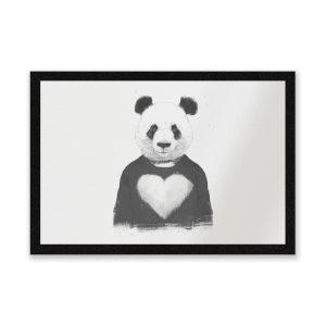 Panda Love Entrance Mat