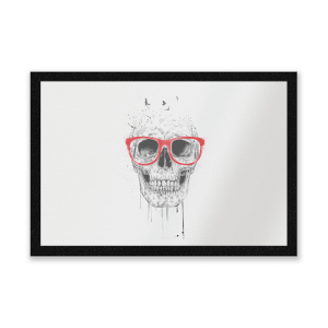Skull And Glasses Entrance Mat
