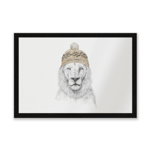 Lion With Hat Entrance Mat