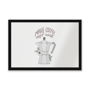 Make Coffee Not War Entrance Mat