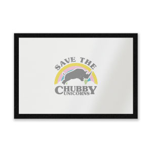 Save The Chubby Unicorns Entrance Mat