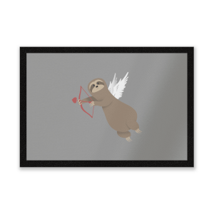 Sloth Cupid Entrance Mat