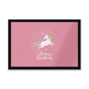 Unicorn Christmas Body Entrance Mat