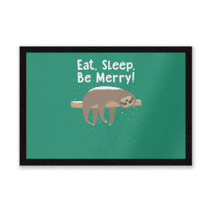 Eat, Sleep, Be Merry Entrance Mat