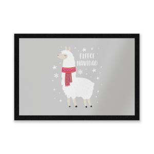 Fleece Navidad Entrance Mat