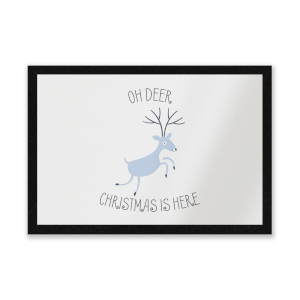 Oh Deer Christmas Is Here Entrance Mat