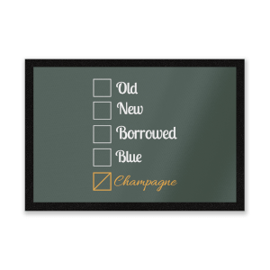 Champagne Tick Box Entrance Mat