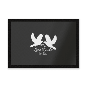 Two Love Doves Entrance Mat