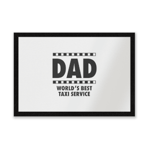 Dad Taxi Service Entrance Mat