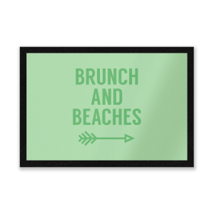 Brunch And Beaches Entrance Mat