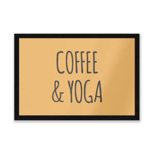 Coffee And Yoga Entrance Mat