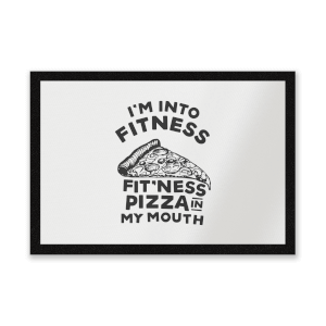 Fitness Pizza Entrance Mat