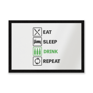 Eat Sleep Game Repeat Entrance Mat