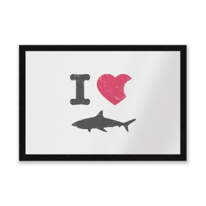 I Love Sharks Entrance Mat