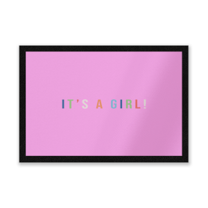 It's A Girl Entrance Mat