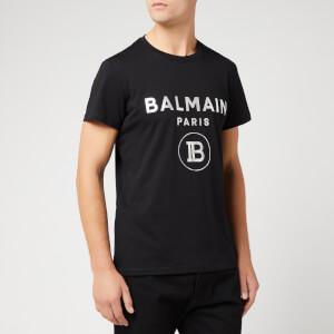 Balmain Men's Metallic T-Shirt - Noir/Oro