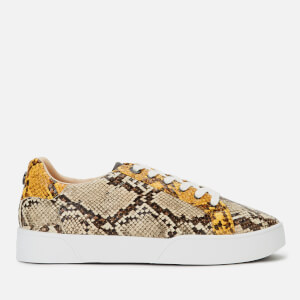 Dune Women's Ellenie S Leopard Print Low Top Trainers - Natural
