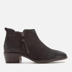 Dune Women's Putnum Nubuck Flat Ankle Boots - Black