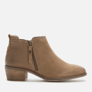 Dune Women's Putnum Nubuck Flat Ankle Boots - Taupe