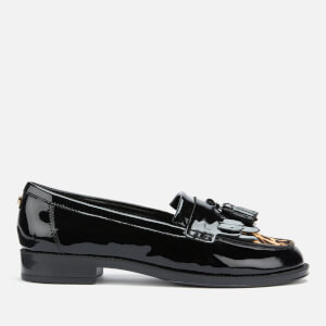 Dune Women's Greatly Leather Loafers - Black