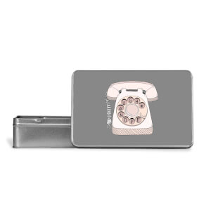 Phone Call Metal Storage Tin