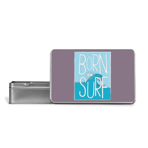 Born To Surf Metal Storage Tin