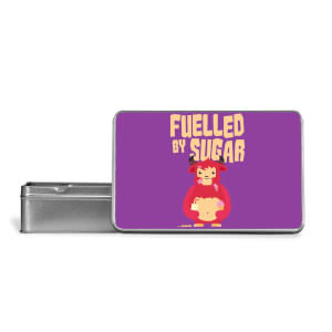 Fuelled By Sugar Metal Storage Tin
