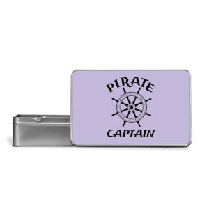 Pirate Captain Metal Storage Tin