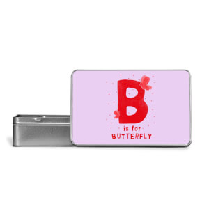 B Is For Butterfly Metal Storage Tin