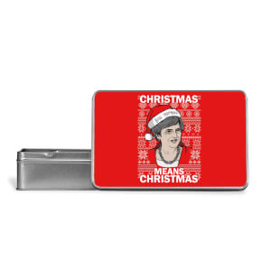 Christmas Means Christmas Metal Storage Tin