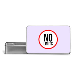 No Limits Metal Storage Tin