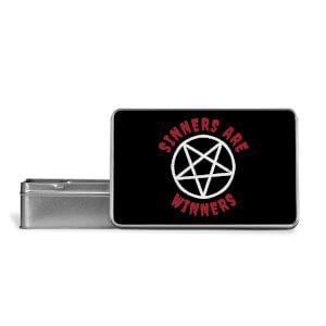 Sinners Are Winners Metal Storage Tin