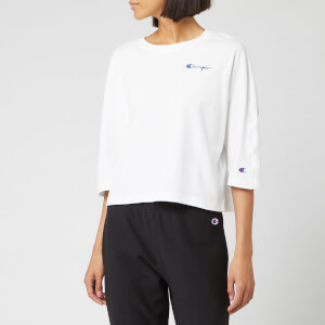 Champion Women's Back Script Oversized Cropped T-Shirt - White