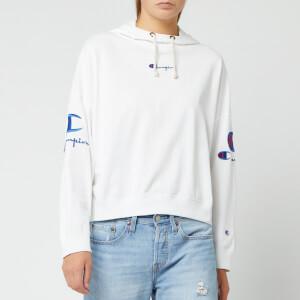 Champion Women's Sleeve Logo Hooded Sweatshirt - White