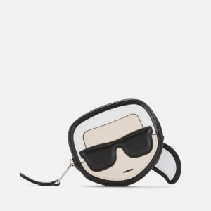 Karl Lagerfeld Women's K/Ikonik Coin Purse - Black