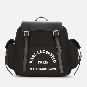 Karl Lagerfeld Women's Rue St. Guillaume Backpack - Black