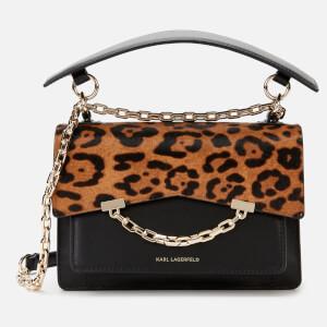 Karl Lagerfeld Women's K/Karl Seven Spec. Leopard Shoulder Bag - Black