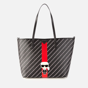 Karl Lagerfeld Women's K/Stripe Ikonik Tote Bag - Black