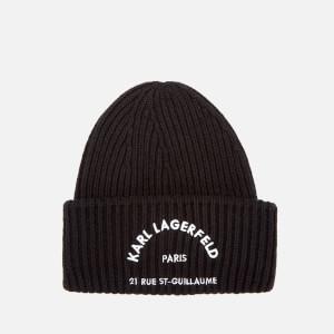 Karl Lagerfeld Women's Rue St. Guillaume Beanie Hat - Black