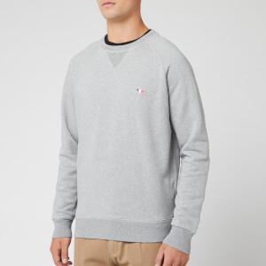 Maison Kitsuné Men's Sweatshirt Tricolor Fox Patch - Grey Melange