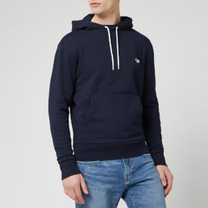 Maison Kitsuné Men's Tricolor Fox Patch Hoodie - Navy
