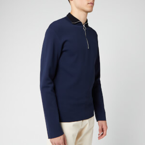 Maison Kitsuné Men's Technical Zipped Collar Pullover - Dark Navy