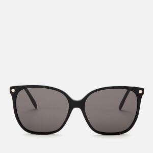 Alexander McQueen Women's Square Frame Acetate Sunglasses - Black/Grey